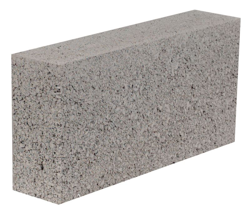 dense concrete block white background